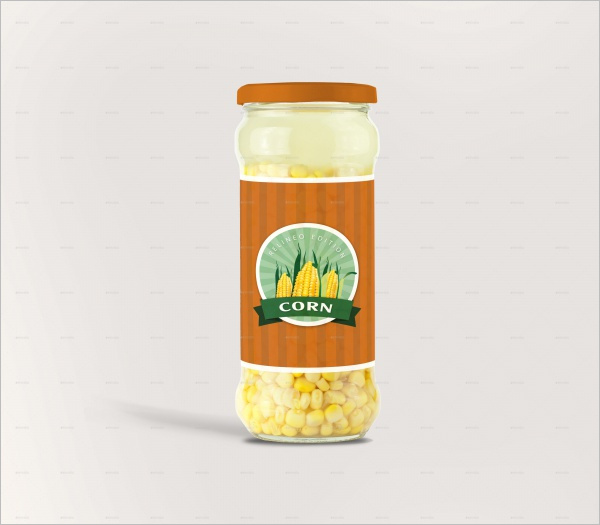 Jar Bottle lable design