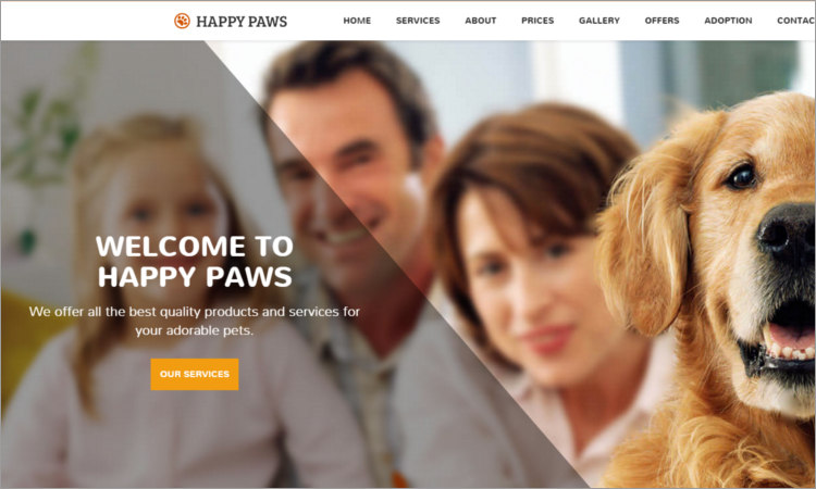 Pet Shop WordPress theme