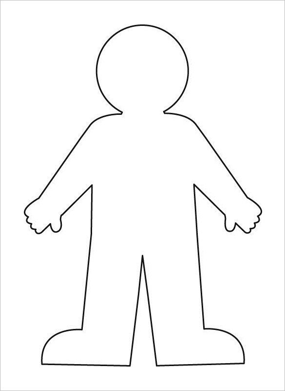 Kid Body Outline Templates