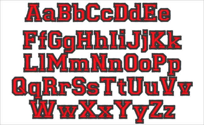 Kindergarten Varsity Font Design