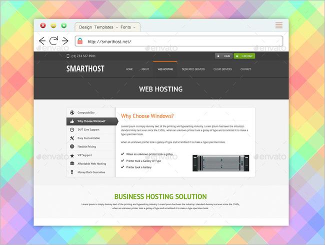 Latest Web Browser Mockup Design