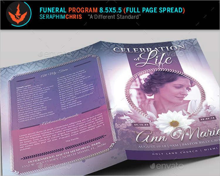 lavender-funeral-program-template