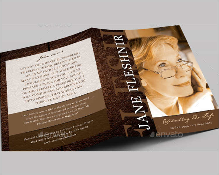 leather-funeral-program-template