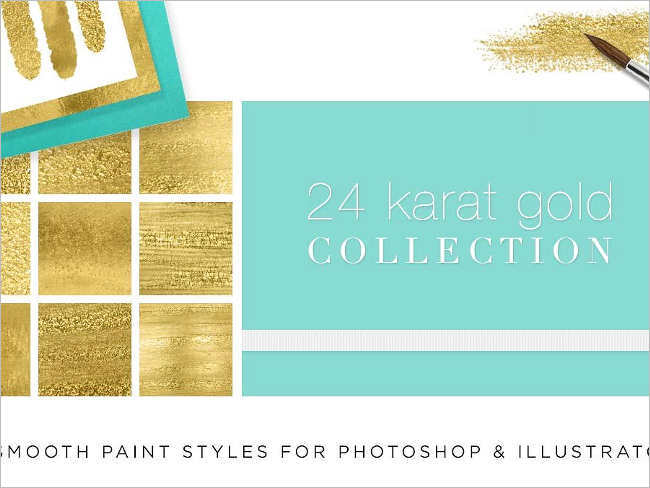Liquid Gold Paint Textures Design