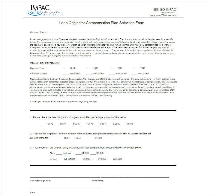 loan-originator-compensation-plan-template