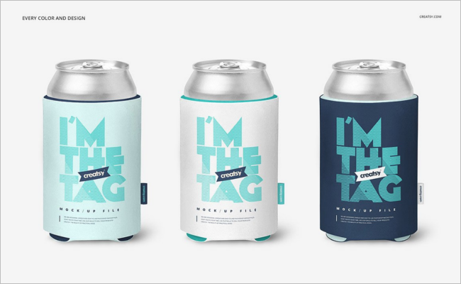 Mini Can Mockup Template