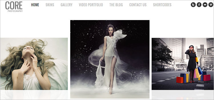 Minimalist Photography WordPress Theme