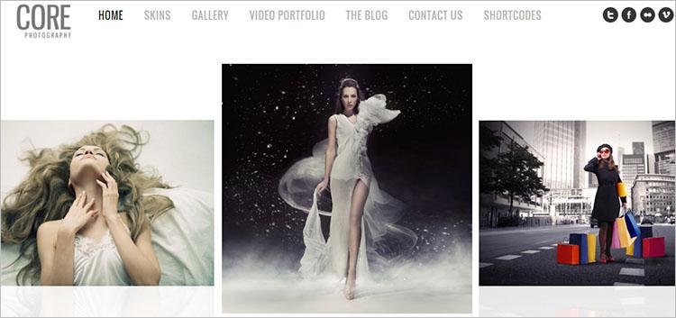Minimalist Photography WordPress Theme