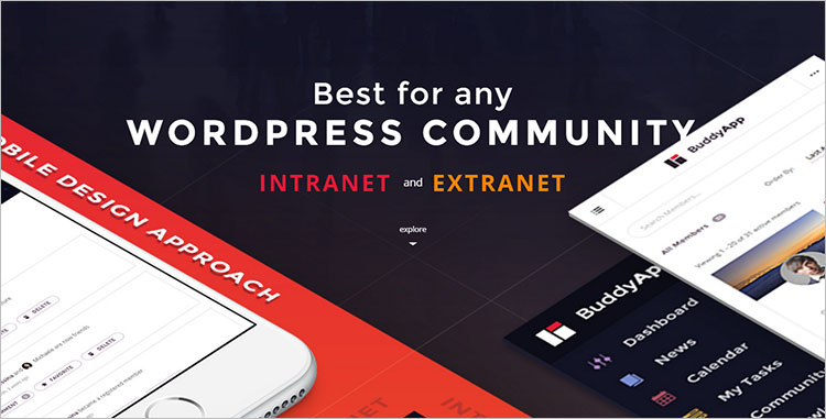 Mobile Community BuddyPress Themes & Templates
