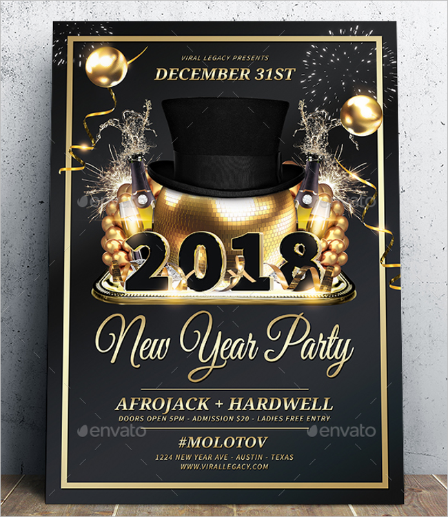 Modern Poster For New Year Design