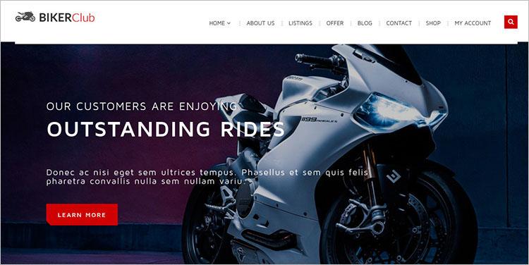Motorcycle Club WordPress Theme