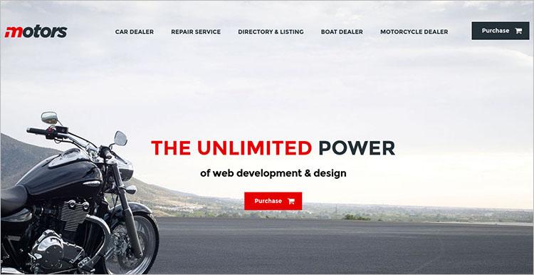 Motorcycle Dealership WordPress Theme