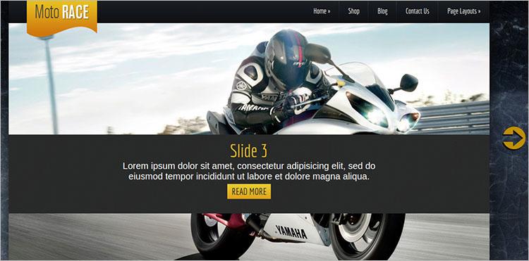 Motorcycle Kentauros WordPress Theme