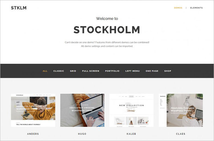 Multi-Concept WordPress Theme Templates