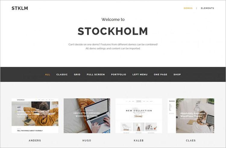 Multi-Concept WordPress Theme Templates