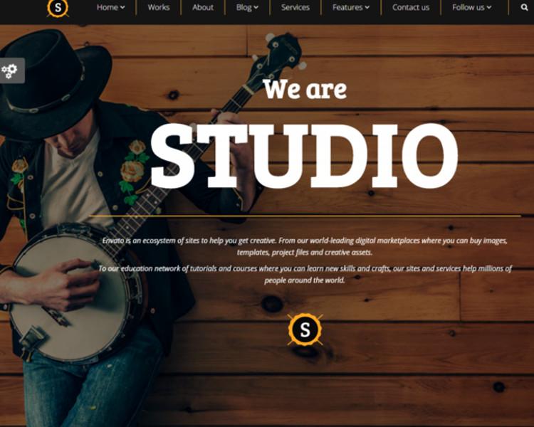 Multipurpose Studio Joomla Theme Templates