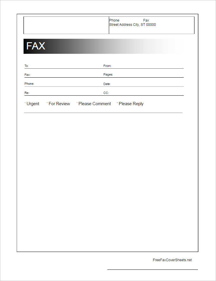 Fax Cover Sheet Template Free Cover Fax Sheet For Microsoft Office