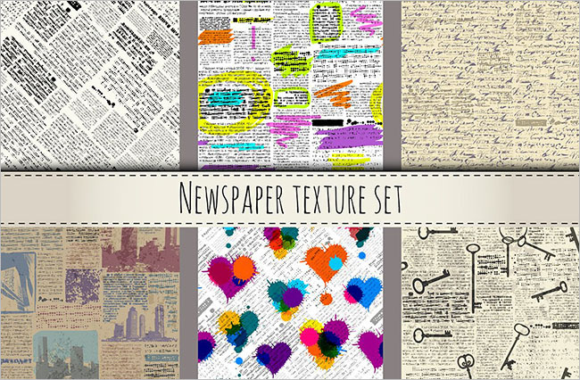 Newspaper Clipping Texture Design