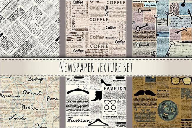 Newspaper Illustrator Texture Design