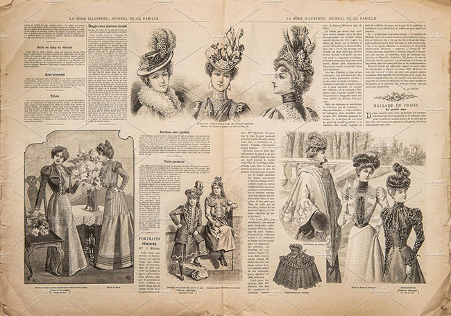Newspaper Kraft Texture design