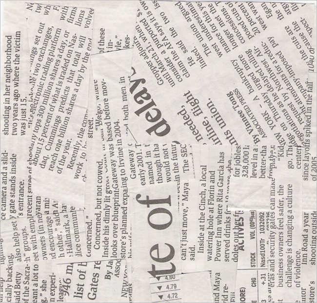 Newspaper background Texture Design