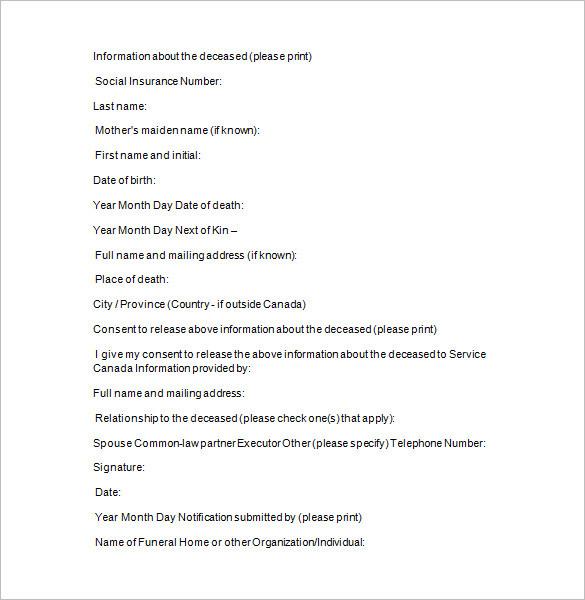 10+ Funeral Notice Templates || Free & Premium Templates