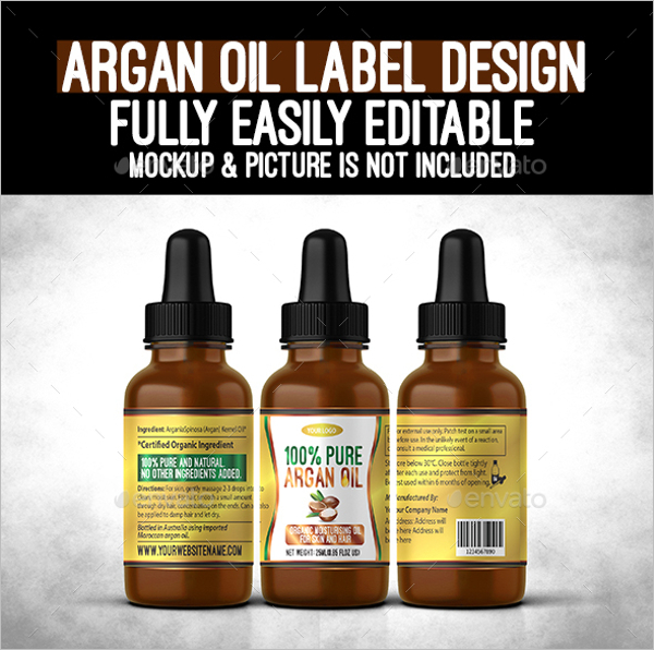 Oil Bottle Lable Design