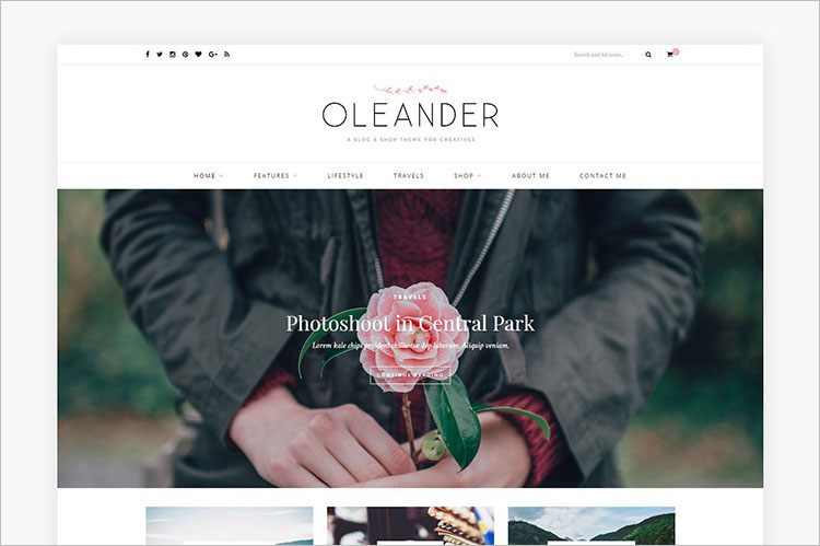 Oleander WordPress Theme Templates