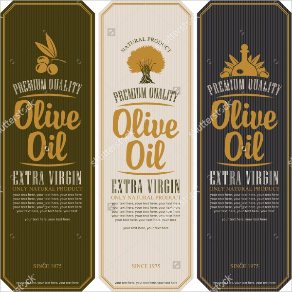 Olive Bottle Lable Design