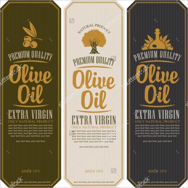 Olive Bottle Lable Design