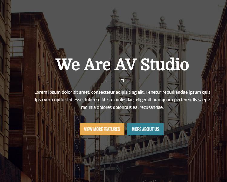 One Page Studio Joomla Theme Template