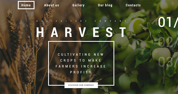 Parallax Agriculture Scrolling WordPress Theme