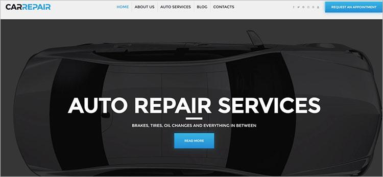Parallax Aoto Service Scrolling WordPress Theme