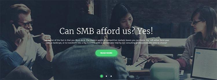 Parallax Financial Advisor Scrolling WordPress Theme