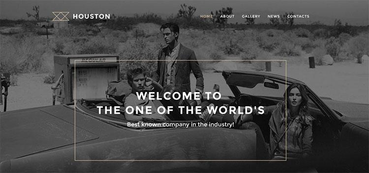 Parallax Houston Scrolling WordPress Theme