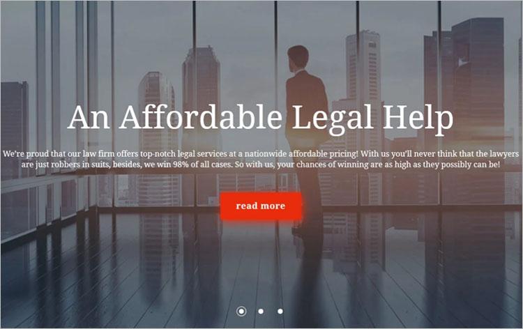 Parallax Law Firm Scrolling WordPress Theme