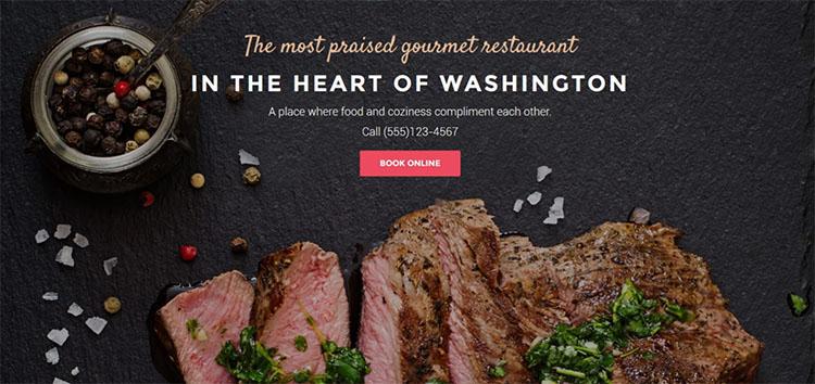 Parallax Restaurant Scrolling WordPress Theme