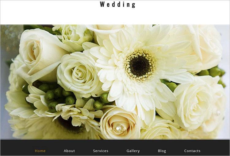 Parallax Weeding Scrolling WordPress Theme