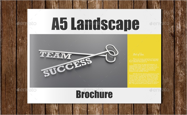 Photorealistic A5 Brochure Mockup Design