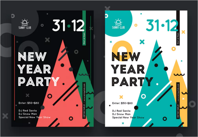 Photoshop New Year Poster Template