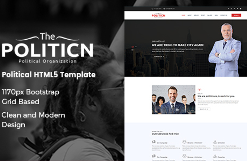 Political HTML Template