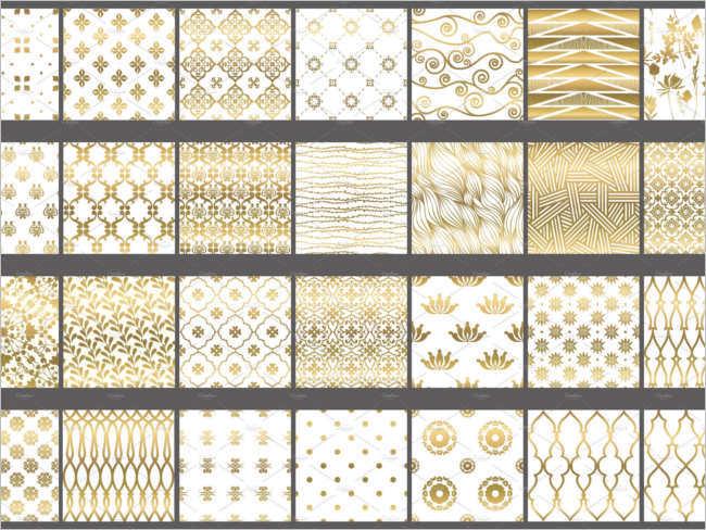 Polka Glitter Gold Patterns