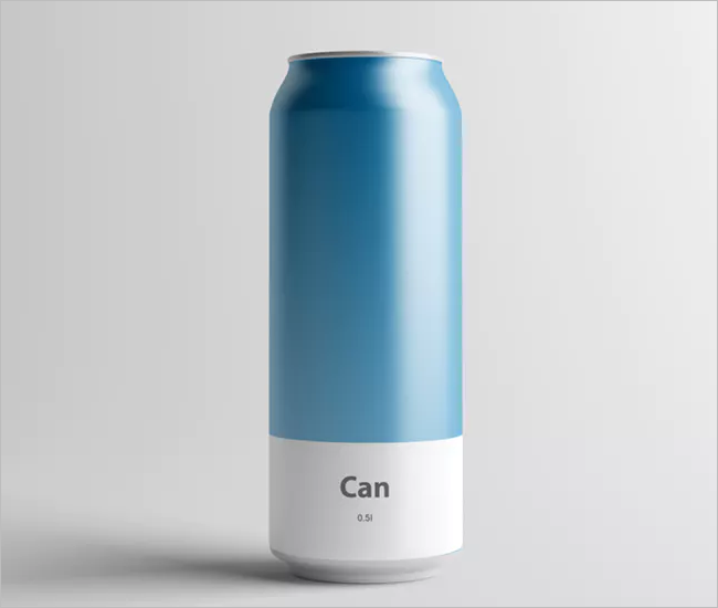 Printable Can Mockup Design