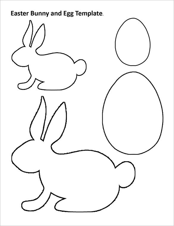 Rabbit Body Outline Templates