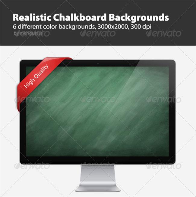 Realistic Chalkboard Background Design