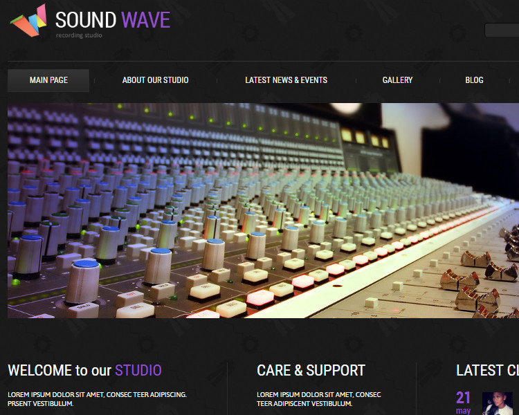 Recording Studio Joomla Themes Templates