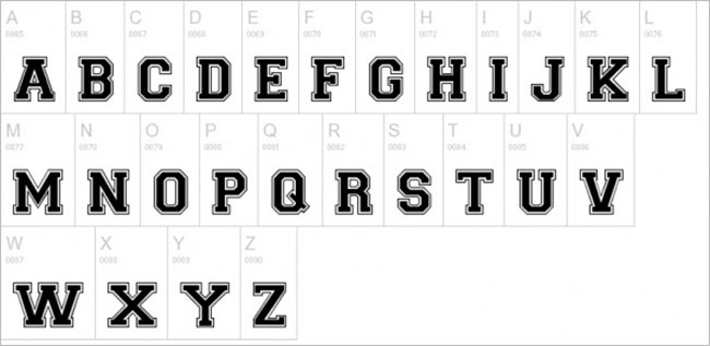 Regular Varsity Font Design