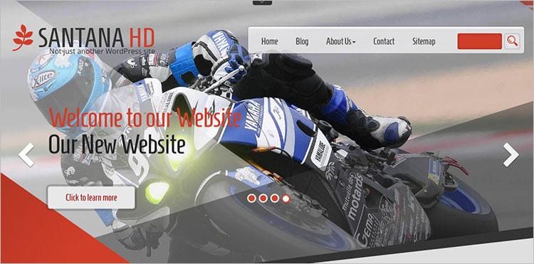 Responsive Motorcycle Shop WordPress Theme