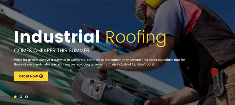 Roofing Responsive WordPress Theme