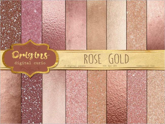 Rose Gold Digital Paper Texture